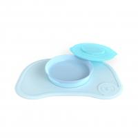 Twistshake Mantel Antideslizante + Plato Click-Mat Azul